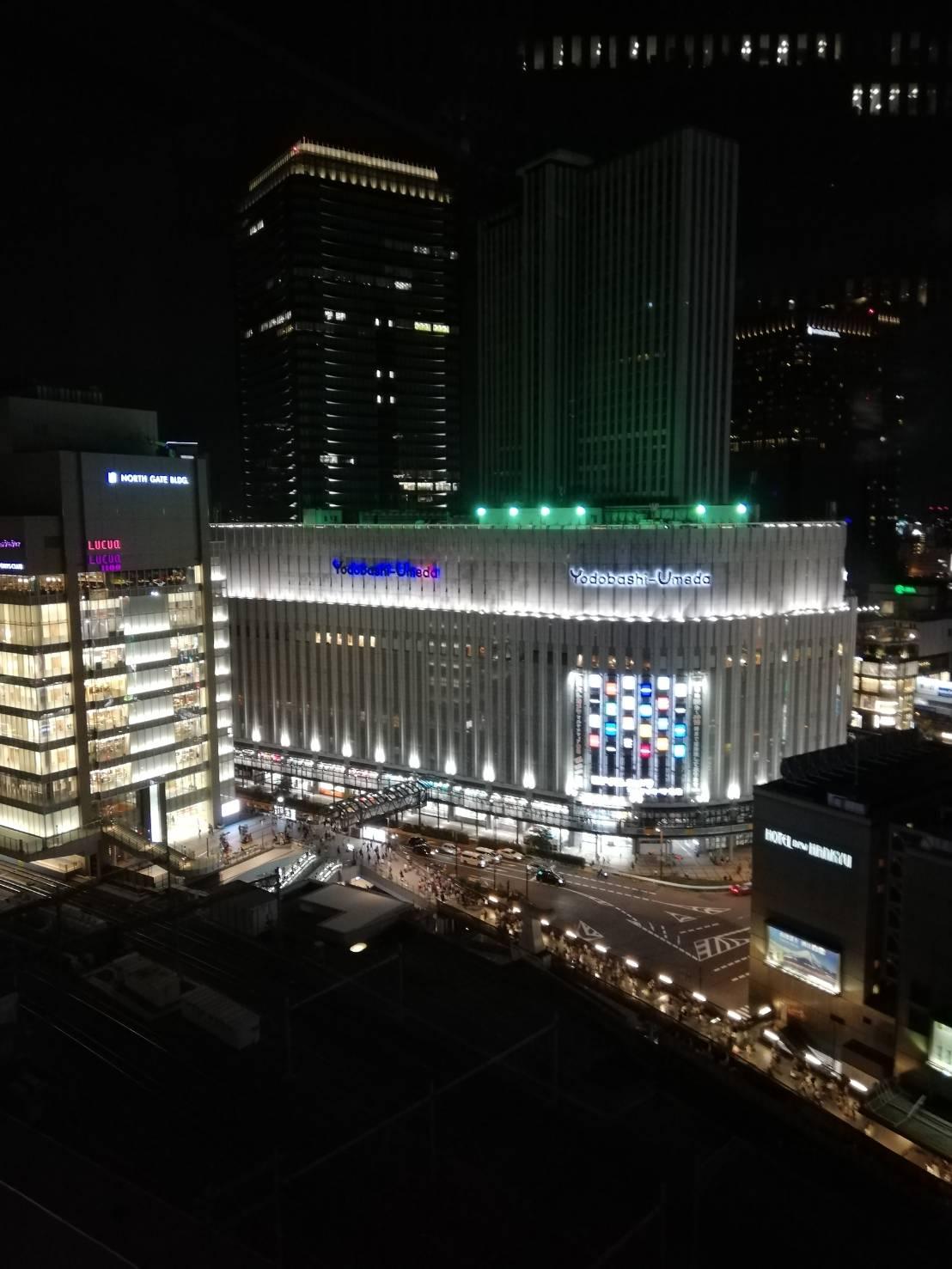 大阪駅から見た夜景